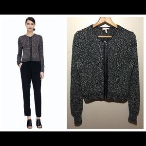 Rebecca Taylor Black Dot Knit Cardigan